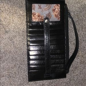Slim hobo wallet with strap